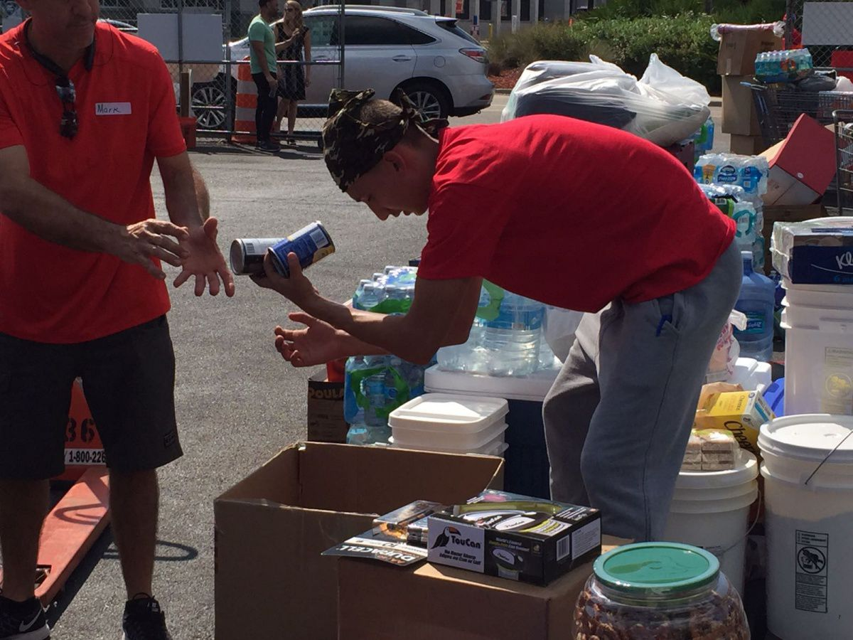 River Team Packing Supplies to Send to Puerto Rico September 28