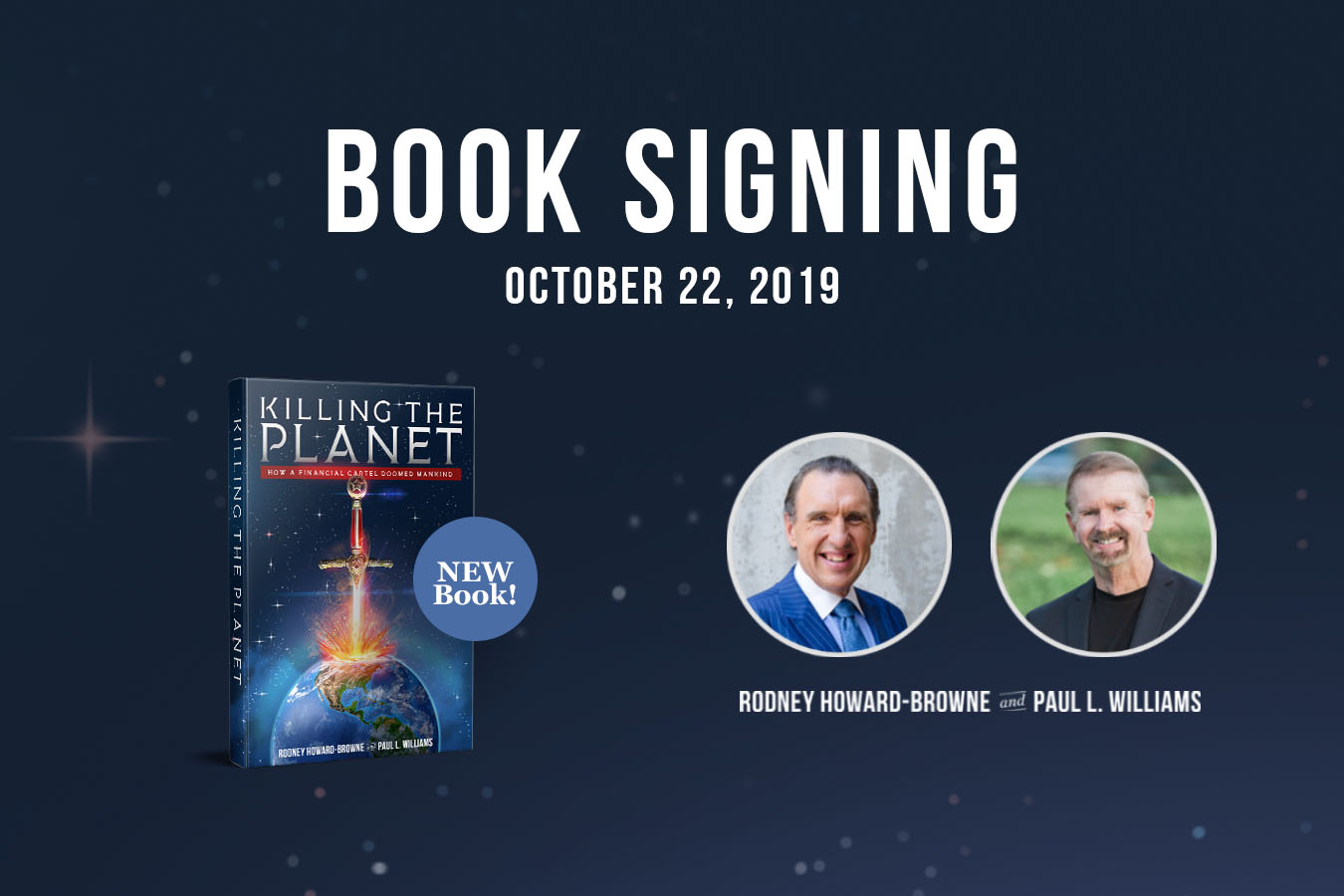 Killing The Planet: Book Signing