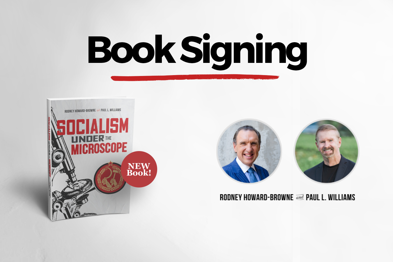 Socialism Under the Microscope: Book Signing